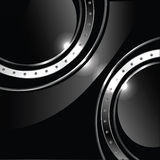 Abstract background with round glossy banner and m Royalty Free Stock Photography