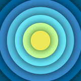 Abstract background with round layers. Stock Image
