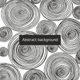 Abstract background with round patterns. Hand drawing stock illustration