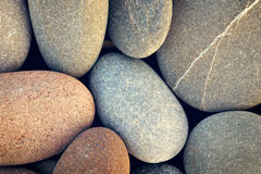 Abstract background with round pebble stones vintage style Stock Images