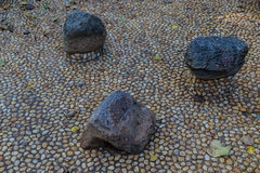 Abstract background with round peeble stones Royalty Free Stock Images