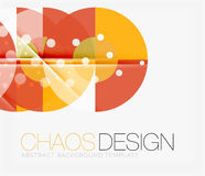 Abstract background with round shapes Stock Photos