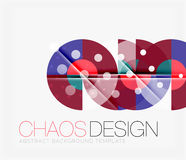 Abstract background with round shapes Royalty Free Stock Photography
