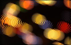 Abstract background with round shapes. With texture of circles in yellow, orange and black colors stock illustration