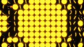 Abstract background with rows of many yellow turning coins, 3d render backdrop, computer generating. Abstract background with rows of many yellow turning coins Royalty Free Stock Image