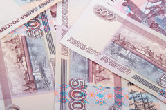 Abstract background of russian banknotes Stock Photos