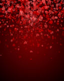 Abstract background s hearts. Abstract Background Valentine's Day. Hearts falling in the form of leaflets. petals of red hearts Stock Illustration