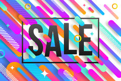 Abstract background with sale banner Stock Photos