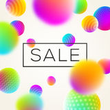 Abstract background with sale banner stock illustration