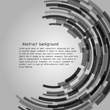 Abstract background with sample text. Radius figure is similar to the intergalactic portal or other space objects. Vector image Stock Image