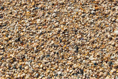 Abstract background from sand and shells Royalty Free Stock Photo