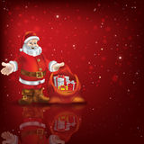 Abstract background with Santa Claus and Christmas gifts Royalty Free Stock Photos