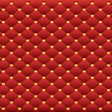 Abstract background of scarlet squares. With goldens pearls Royalty Free Stock Images