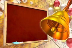 Abstract background of the school royalty free illustration