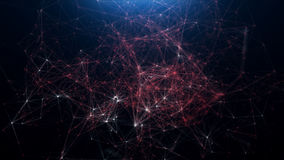 Abstract background of scientific plexuses and figures Royalty Free Stock Photos
