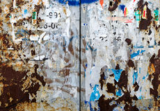Abstract background from scraps of posters Royalty Free Stock Photography