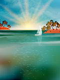 Abstract background with sea sunrise. EPS 10 Stock Photos