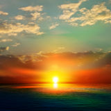 Abstract background with sea sunrise Stock Photos