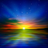 Abstract background with sea sunrise Royalty Free Stock Photos