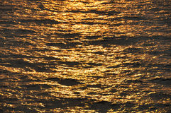 Abstract background of sea in sunset or sunrise time. Stock Photography