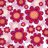 Abstract background. Seamless background with abstract floral motifs Vector Illustration