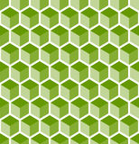 Abstract background. With seamless green cubes pattern Stock Images