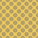 Abstract background seamless mosaic of concentric circles in diagonal arrangement on golden background. Retro design. Vector wallpaper Stock Photo