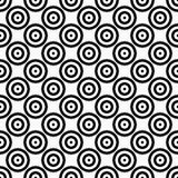 Abstract background seamless mosaic of concentric circles in diagonal arrangement. Retro design vector wallpaper.  vector illustration
