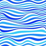 Abstract background. Seamless pattern with waves. Vector illustration Stock Photography