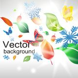 Abstract background from seasonal elements. Vector Abstract background from seasonal elements stock illustration