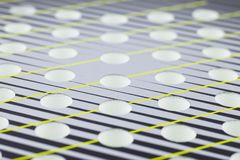 Abstract background with selective focus. Openings rackets for playing beach tennis stock photo