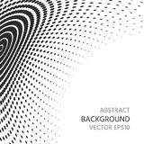 Abstract background of semitones. Distortion of space. Royalty Free Stock Photos