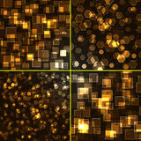 Abstract background - set. Abstract background of holiday lights - set Royalty Free Stock Image