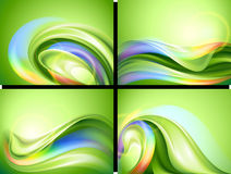 Abstract background set vector illustration