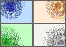 Abstract background set. Abstract background rotating angle set Royalty Free Stock Images