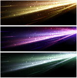 Abstract background set. Abstract black background set with colour pattern. Vector illustration Stock Photo