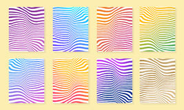Abstract background set with different modern color gradient sty Royalty Free Stock Photo