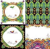 Abstract background set ( floral series) royalty free illustration