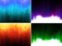 Abstract background set. Set of four abstract artistic stained striped background Stock Photos