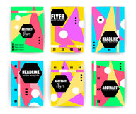 Abstract Background Set. Geometric Lines and Shapes for Flyers. Brochures, Vouchers, Leaflets, Presentations, Annual Reports, Business Cards,Document Cover stock illustration