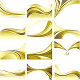 Abstract Background Set Golden Theme Blank White B Royalty Free Stock Photo