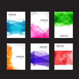Abstract background - Set of simple light and clear geometry ele Royalty Free Stock Image