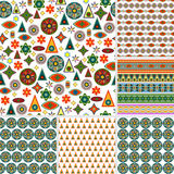 Abstract background. Set of six patterns seamless Royalty Free Stock Photos