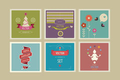 Abstract  background set. Trendy templates for business cards or greetings Vector Illustration
