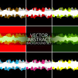 Abstract background set. Vector colorful background set, collection. Graphic design elements abstract backgrounds, borders vector illustration