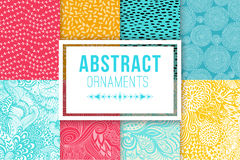 Abstract background set vector textures. Ethnic backdrop. Stock Image
