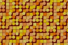 Abstract background with shape of ellipse & square box pattern. Mosaic, creative, bubbles & decoration. Abstract background with shape of ellipse & square box Stock Photography