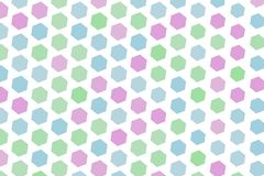 Abstract background with shape of hexagon pattern. Style, backdrop, graphic & concept. Abstract background with shape of hexagon pattern. Style of mosaic or Royalty Free Stock Images