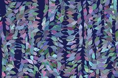 Abstract background with shape of leaves drawing pattern. Backdrop, messy, decoration & mosaic. Abstract background with shape of leaves drawing pattern. Style stock illustration