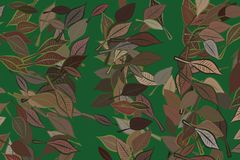 Abstract background with shape of leaves drawing pattern. Nature, details, repeat & mosaic. Abstract background with shape of leaves drawing pattern. Style of vector illustration